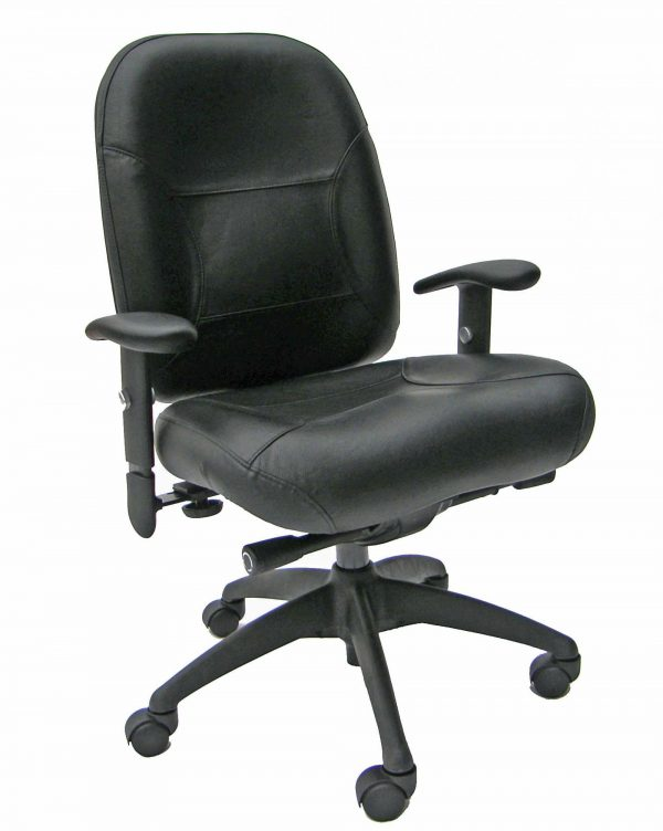 MVP Extreme Ergonomic Chair BLACK LEATHER
