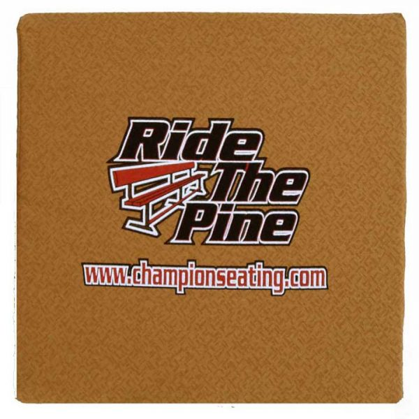 """Ride the Pine"" ERGO-Memory Foam Cushion for Travel & Stadium"