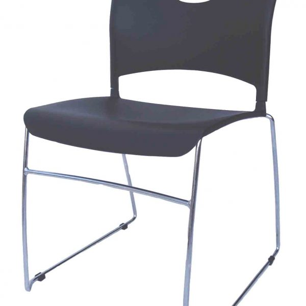 Waterboy Stack Chair - Black w/Chrome Frame $48.50 each