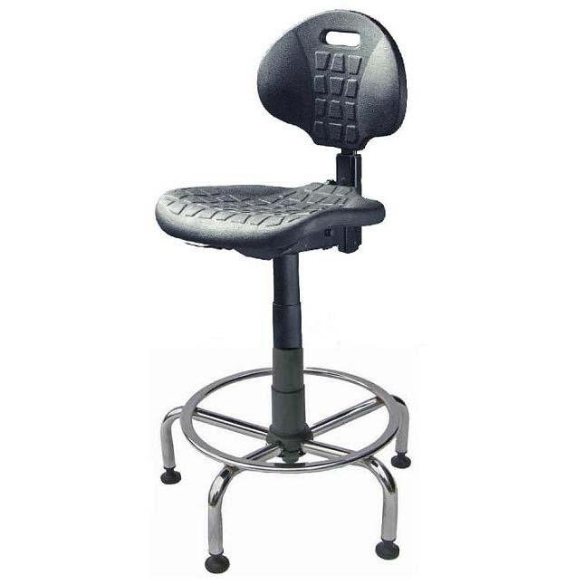 Workout Tall Lab Shop Stool W Chrome Base Footring Champion Seatingchampion Seating